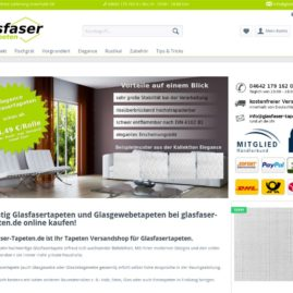 Glasfaser-Tapeten