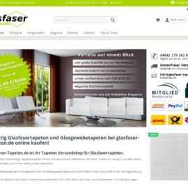 Glasfaser-Tapeten Onlineshop