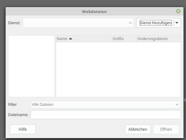 Webdatei öffnen .... Verbindung zum Server herstellen