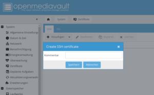 SSH Schlüssl erstellen - openmediavault rsync hidrive